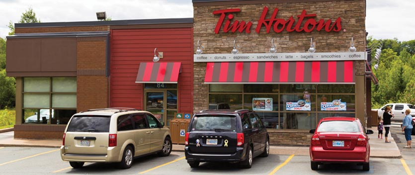 Cars Parked at Tim Hortons