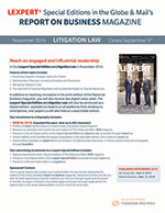 Special Edition Litigation<br>closes September 9, 2016