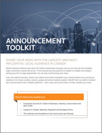 Announcement Toolkit