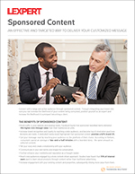 Lexpert 2019 sponsored <br>content rates