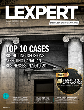 Lexpert Publishes Special Edition: Litigation 2020