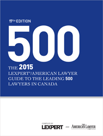 Lexpert and American Lawyer publish the Lexpert® ALM 500