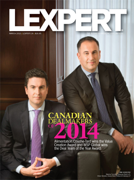 Winners of the Canadian Dealmakers of 2014 Awards