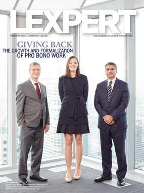 Giving Back: The growth and formalization of pro bono work