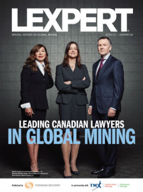 Lexpert publishes 2016/2017 Leading Canadian Lawyers in Global Mining supplement
