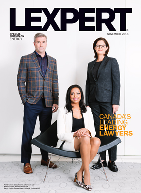 Lexpert publishes 2016 Energy special edition in Globe and Mail's Report on Business