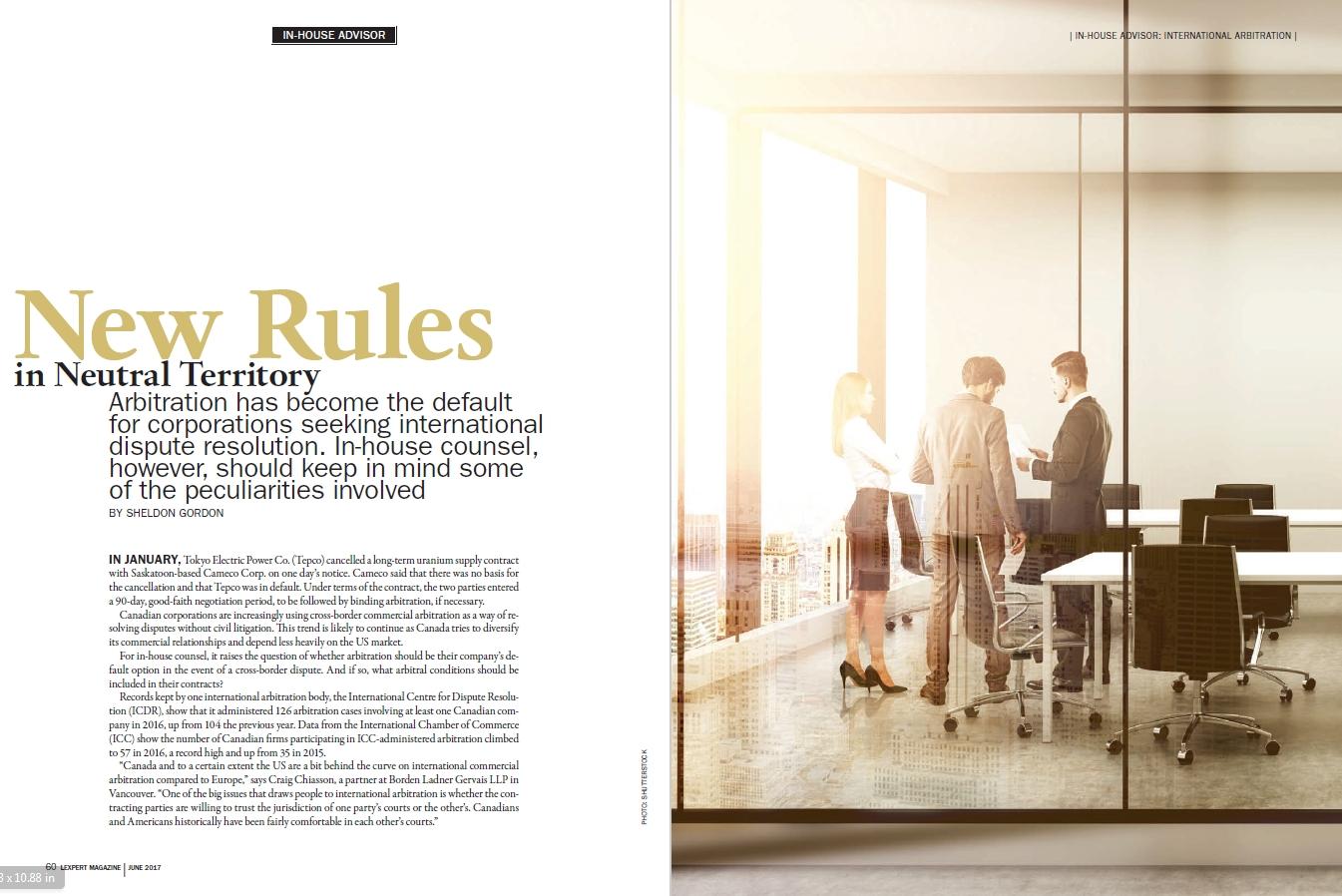 In-House Advisor: New Rules in Neutral Territory