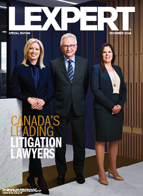 Lexpert publishes the 2018 Litigation Special Edition in Globe and Mail's Report on Business