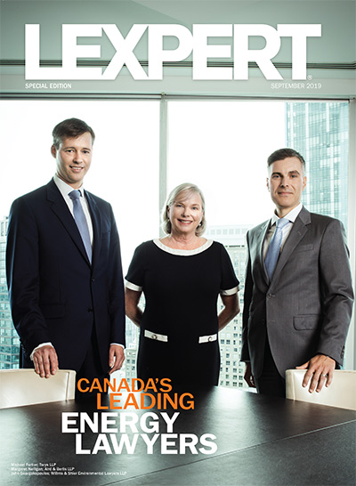 Lexpert publishes 2019 Special Edition on Energy in the Globe and Mail's Report on Business Magazine